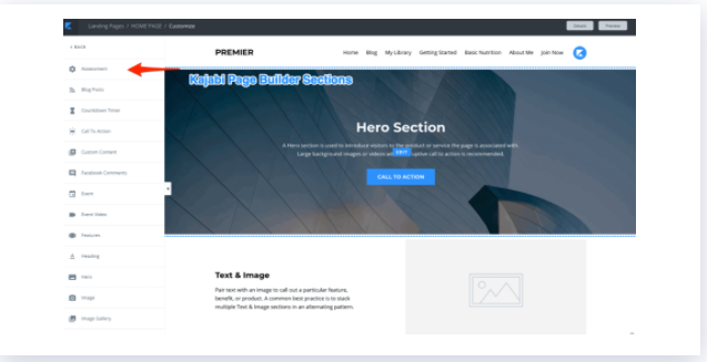 Kajabi - Page Builder