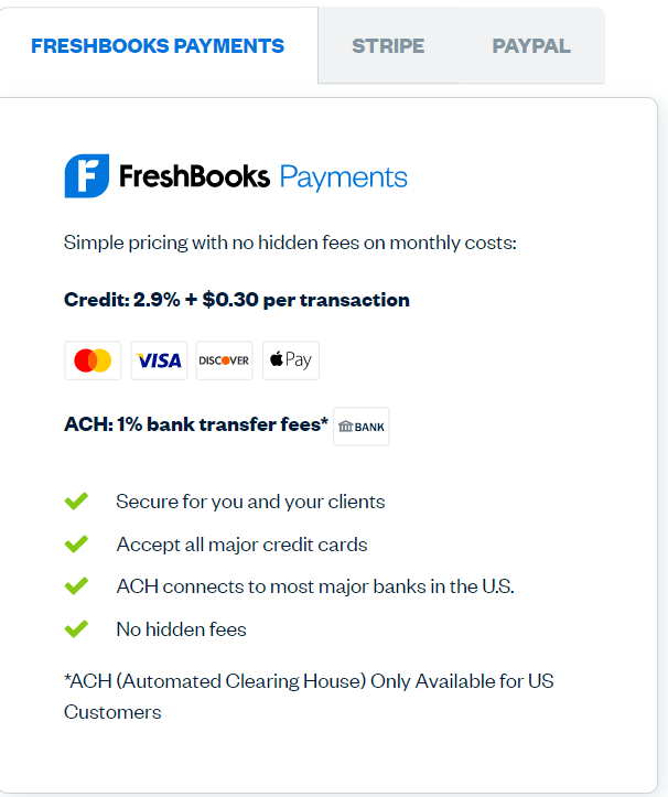 Freshbooks - Payment