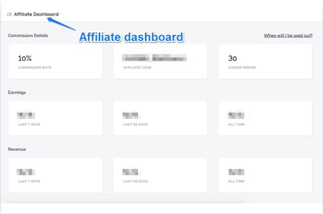 Teachable Affiliate Dashboard