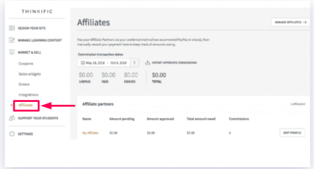Thinkific - Affiliates Marketing