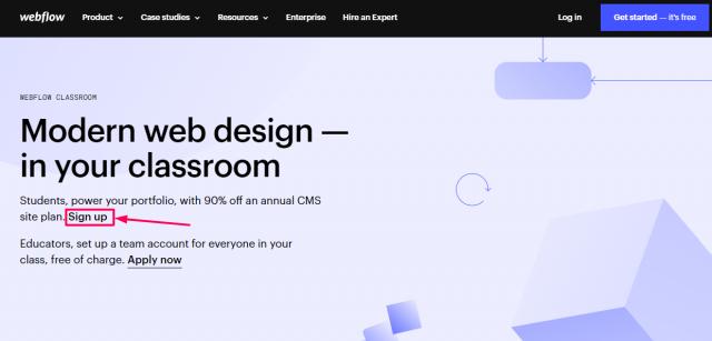 Webflow Promo Code - Sign Up